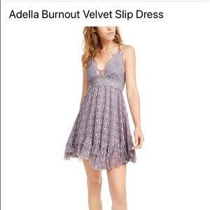 """Free People """"Adella burnout velvet mini dress"""""""